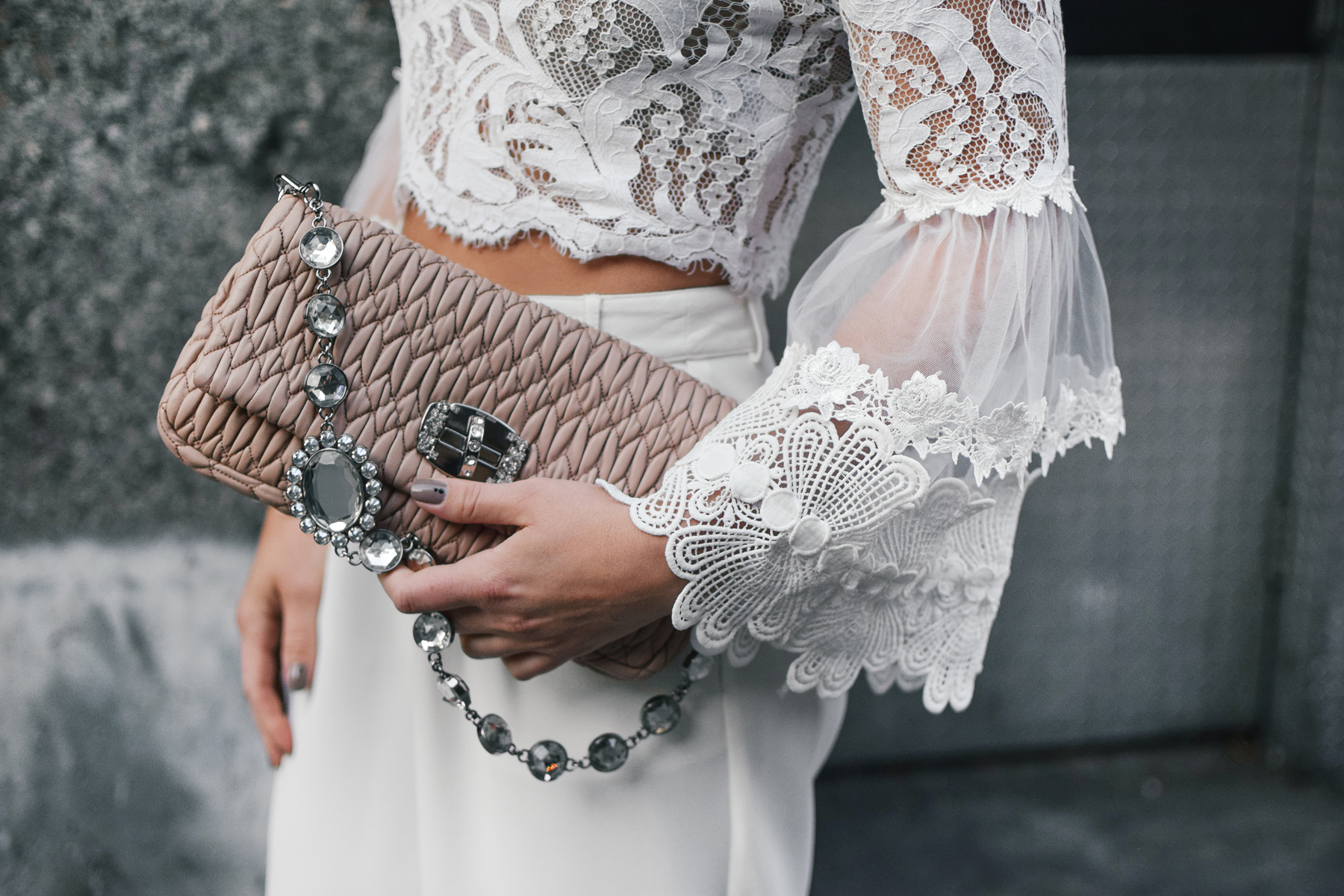 ruffle-lace-sheer-blouse-detail-miu-miu-blush-crystal-bag-nyfw-streetstyle