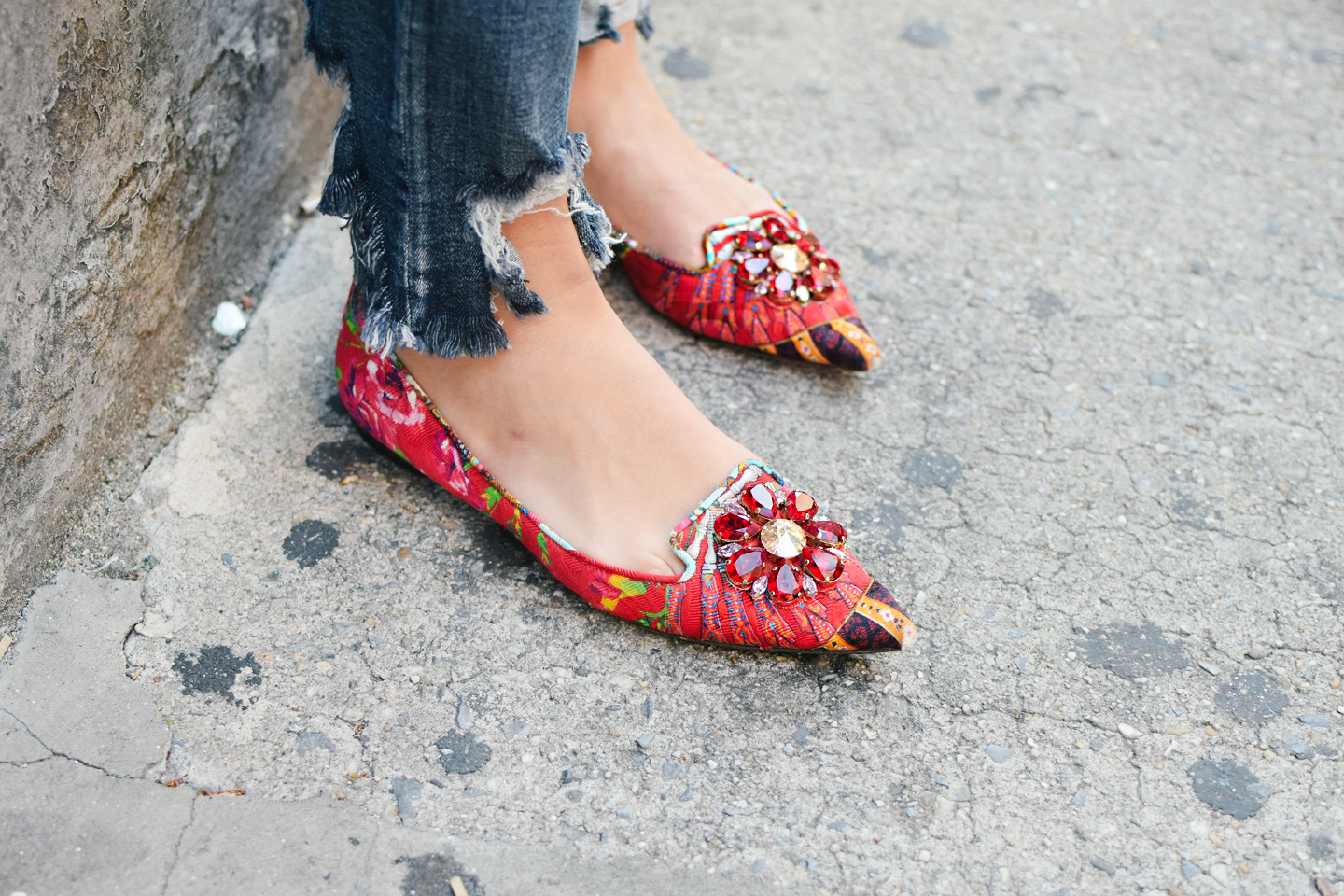 dolce-and-gabanna-crystal-embellished-red-flats