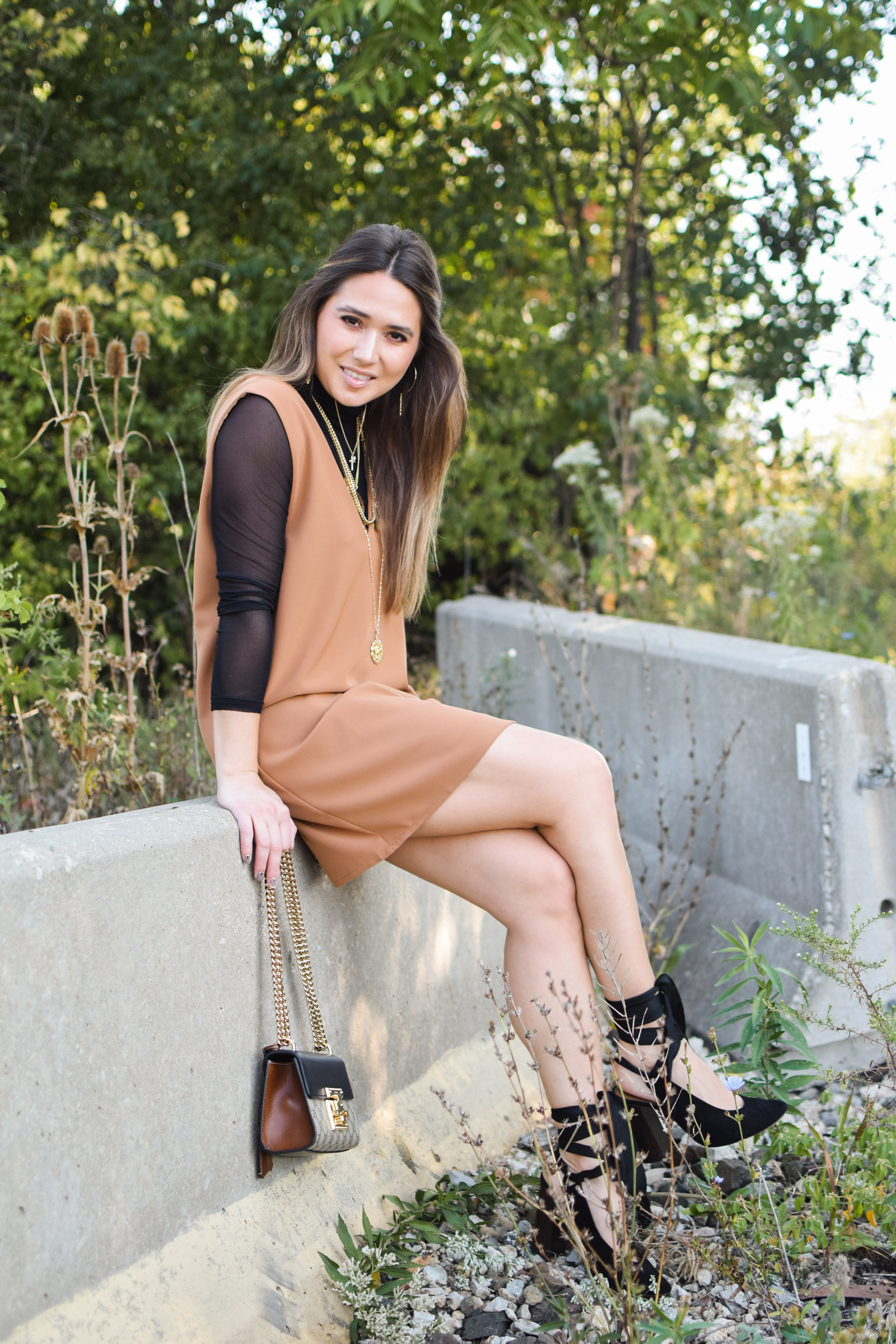 tobi-camel-shift-dress-fall-outfit-cute-style-sexy-professional-chloe-lace-up-heels